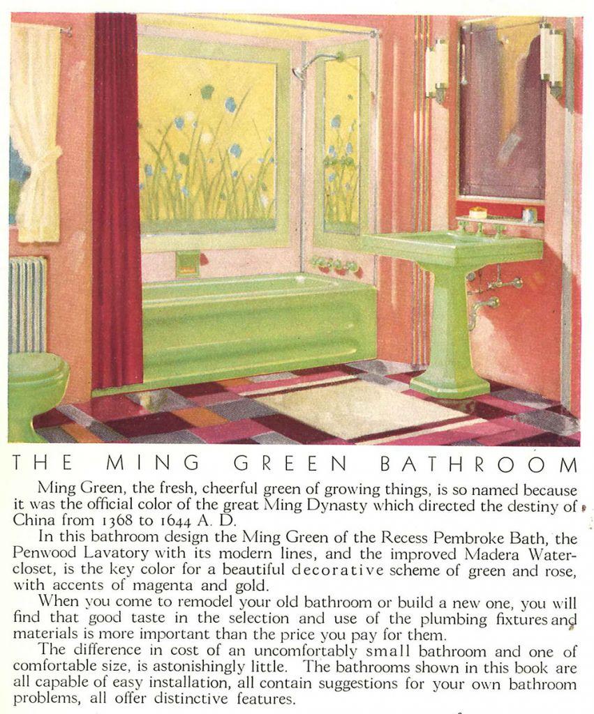 ming green bathroom fixtures by american standard
