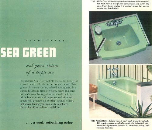 Sea Green vintage bathroom