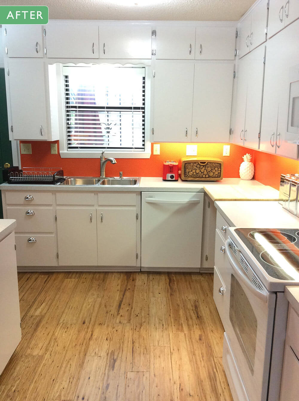 Mary And John Remodel Their 1980s Kitchen With A Fresh White Retro