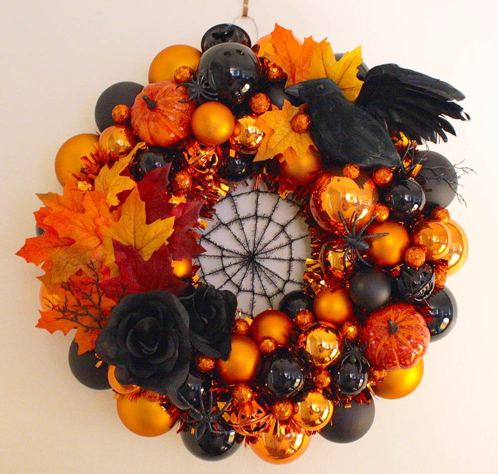 Fantastic Erika makes a fabulous Halloween wreath using our Christmas  CI96