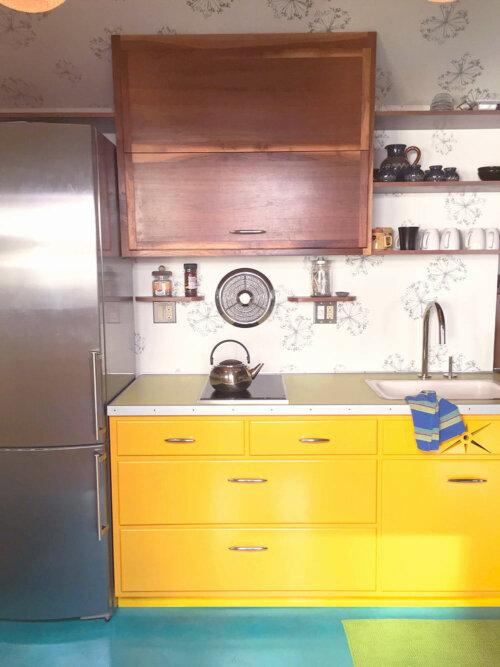 vintage chrome kitchen fan