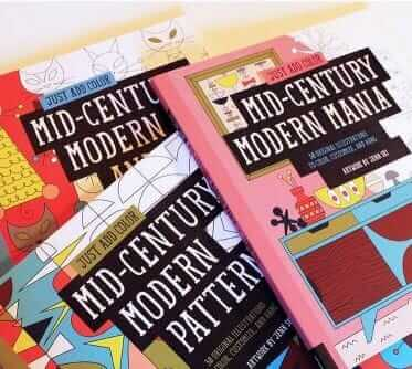 midcentury modern coloring books