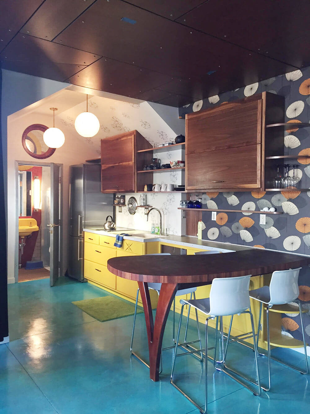 retro modern kitchen creates a genius retro modern eclectic office guest house retro renovation 4317