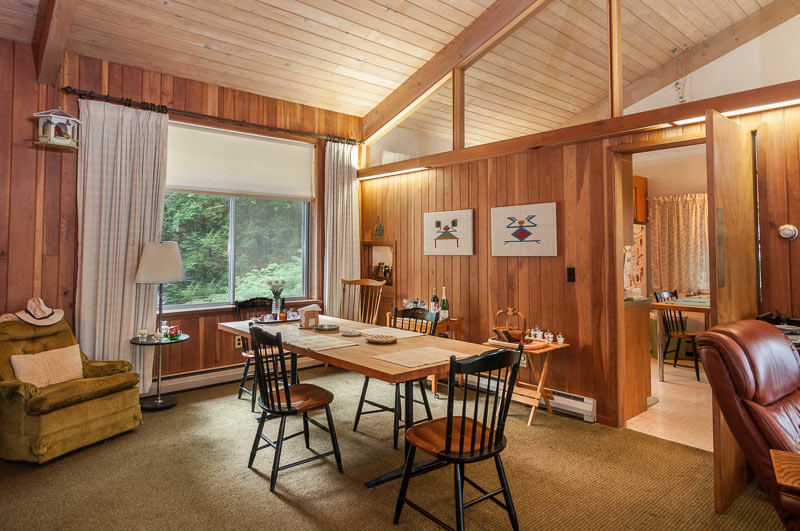 10 Rustic Dining Room Ideas: Warm And Woodsy 1968 Keck & Keck Time Capsule House In