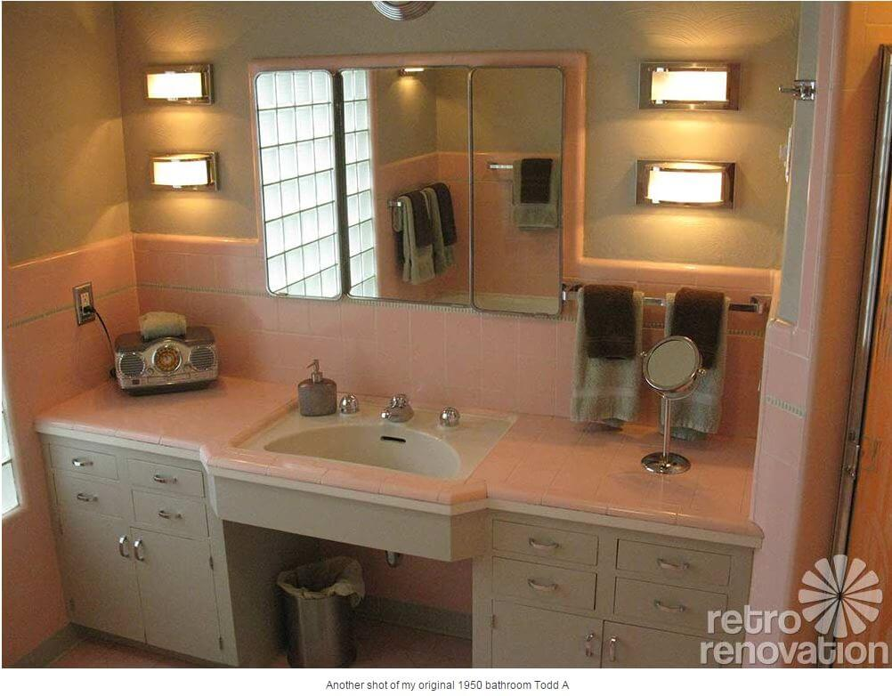 pink bathroom gray trim. The two classic ways to use decorative liner tiles   aka sizzle