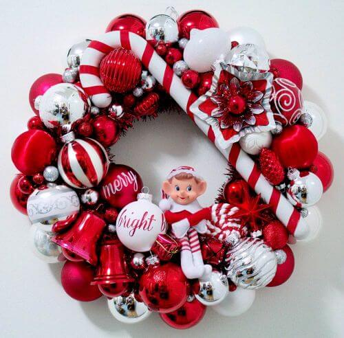 vintage ornament wreath - Christmas Ball Wreath