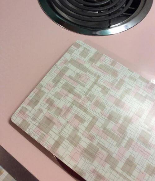 retro pink laminate
