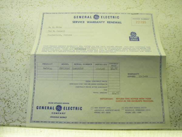 The 1964 Ge Americana Refrigerator-freezer