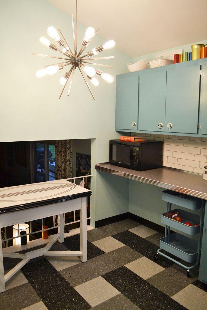 sputnik light in the kitchen