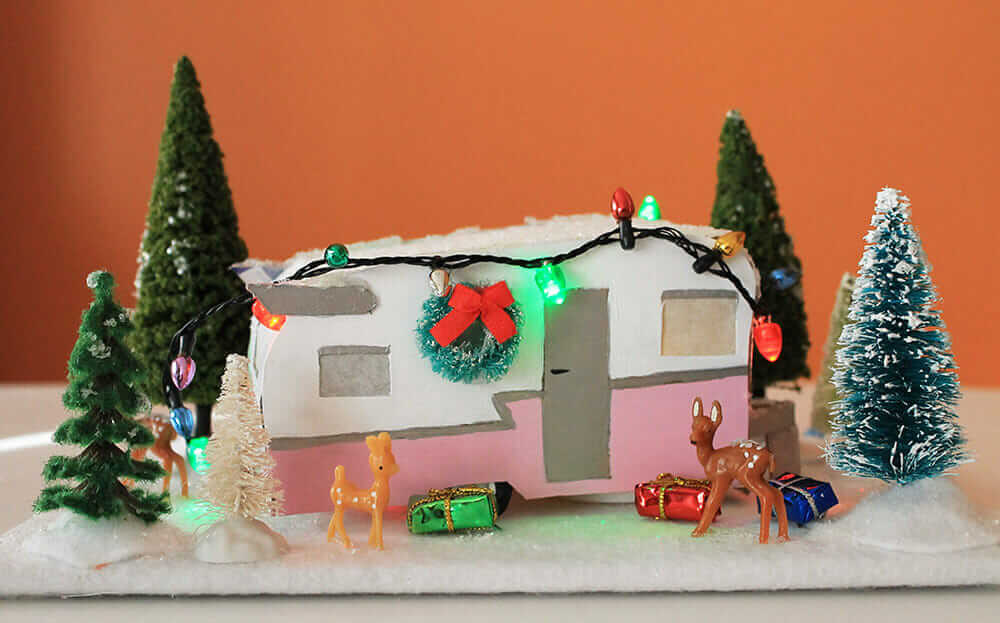 mini travel trailer christmas