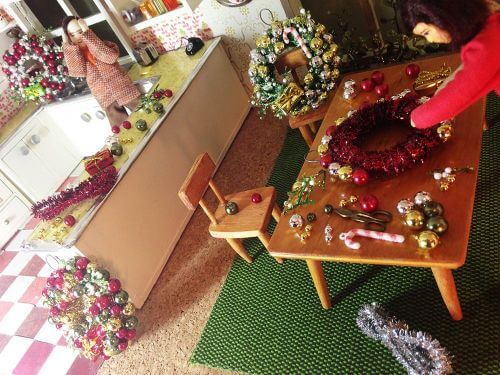 vintage dollhouse christmas