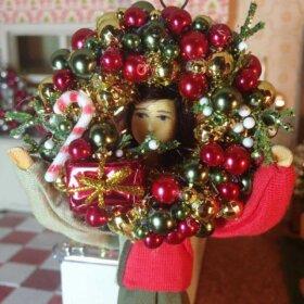 vintage dollhouse christmas