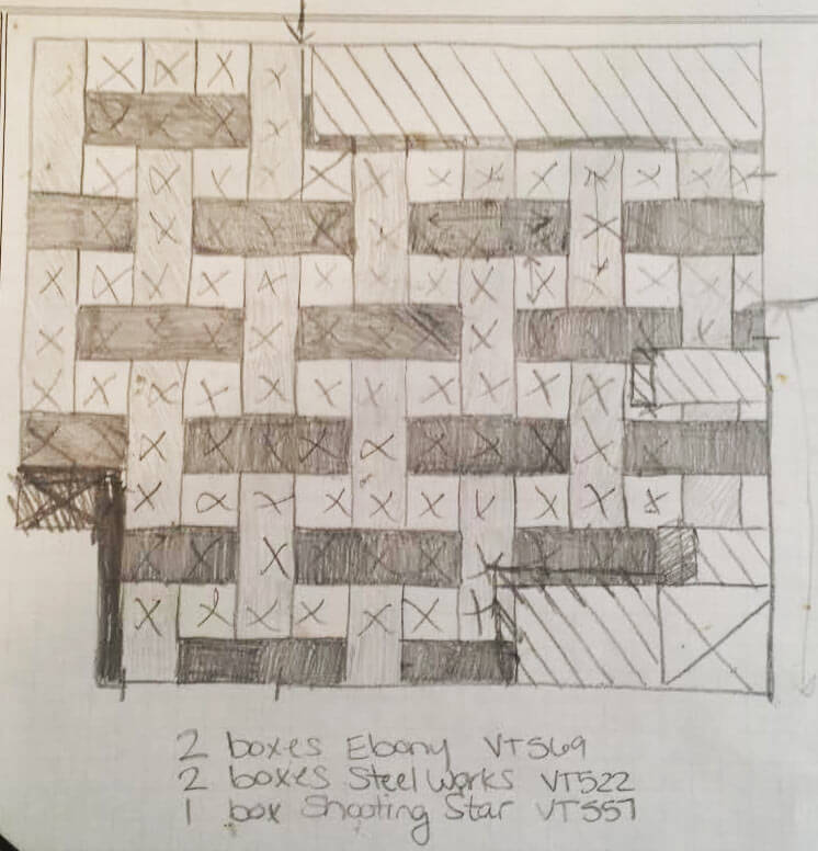 floor pattern sketch