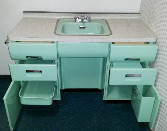 Vintage Steel Bathroom Vanity ...