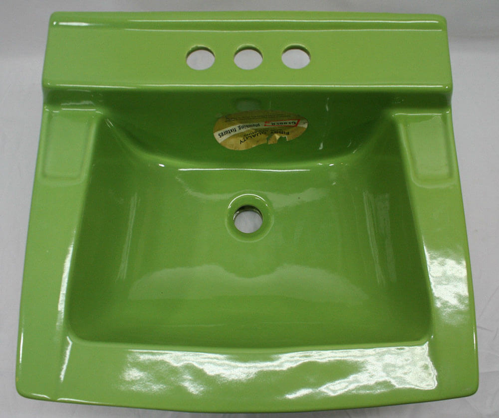 Retro Green Kitchen: Colorful Vintage Bathroom Sinks From Match My Tile