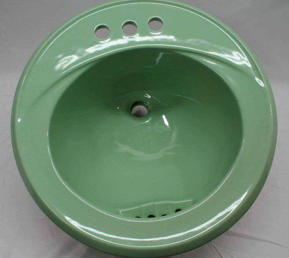 Colorful Vintage Bathroom Sinks From Match My Tile Retro
