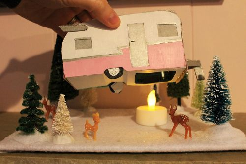 mini travel trailer christmas