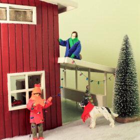 mid century dollhouse DIY