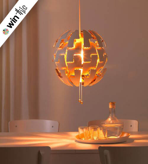 enter to win an ikea ps 2014 pendant light retro renovation. Black Bedroom Furniture Sets. Home Design Ideas