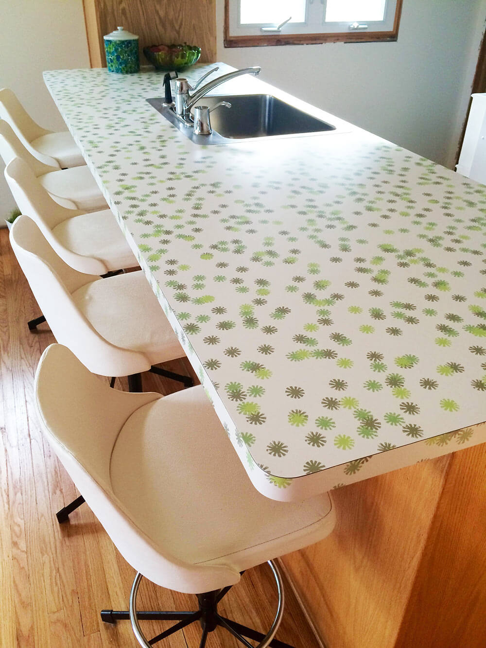 Sneak peek: Kristen\'s kitchen renovation using Wilsonart \'Daisy ...