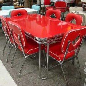 vintage dinette red