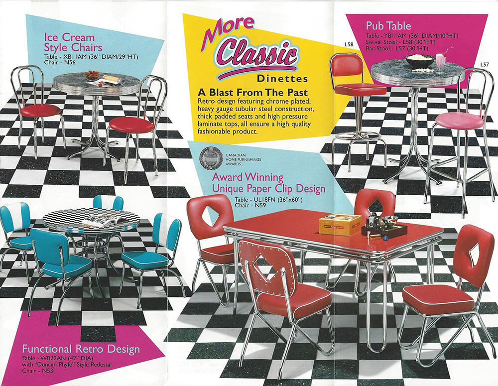 vintage dinette set still in production after nearly 70 years  acme chrome dinettes      rh   retrorenovation com