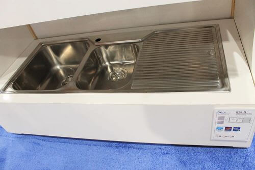 stainless steel drainboard sink