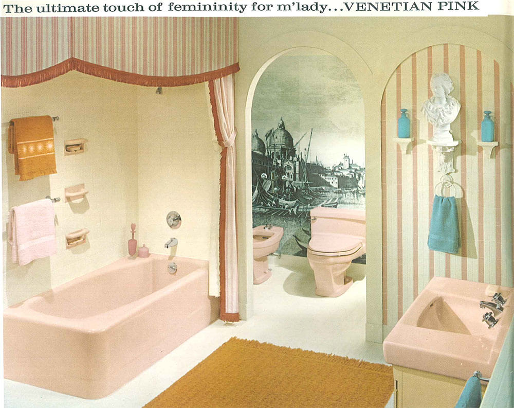 midcentury pink bathroom midcentury pink bathroom