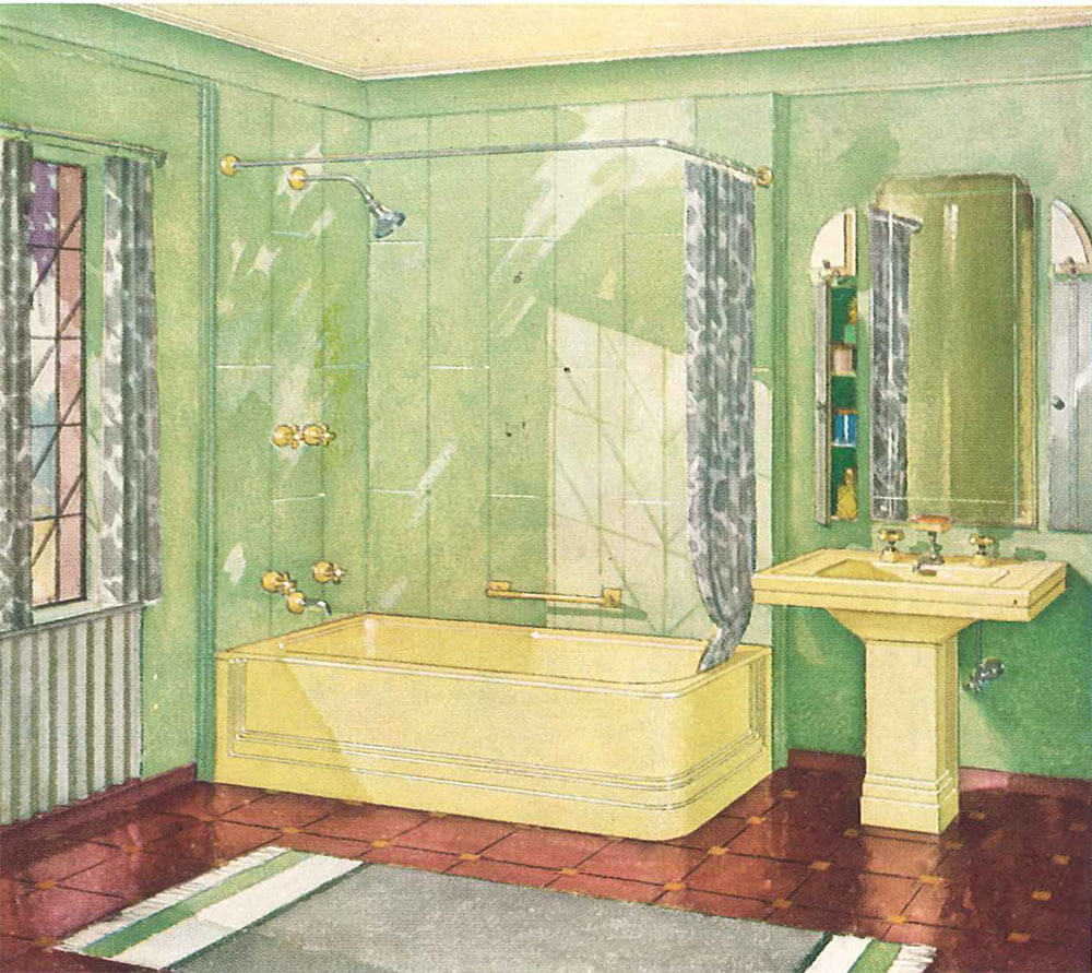 Etonnant Vintage Yellow Bathroom Vintage Yellow Bathroom ...