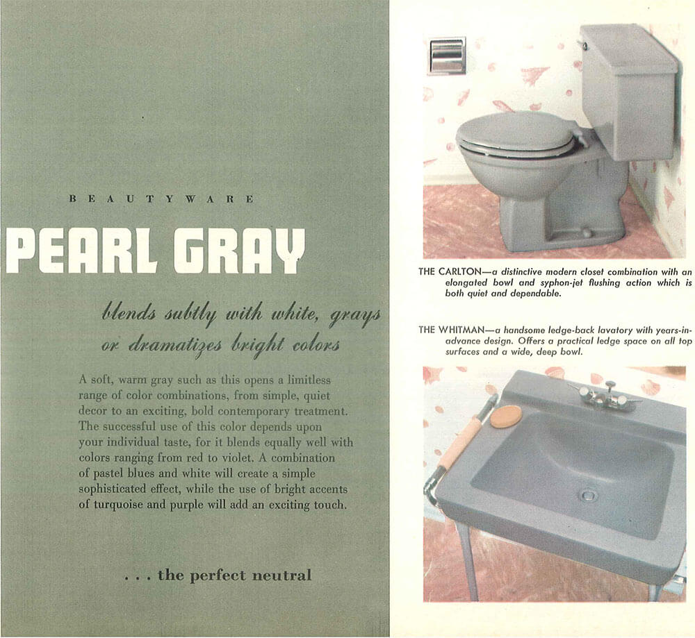 The color gray in vintage bathrooms from 1927 to 1962 - Retro Renovation