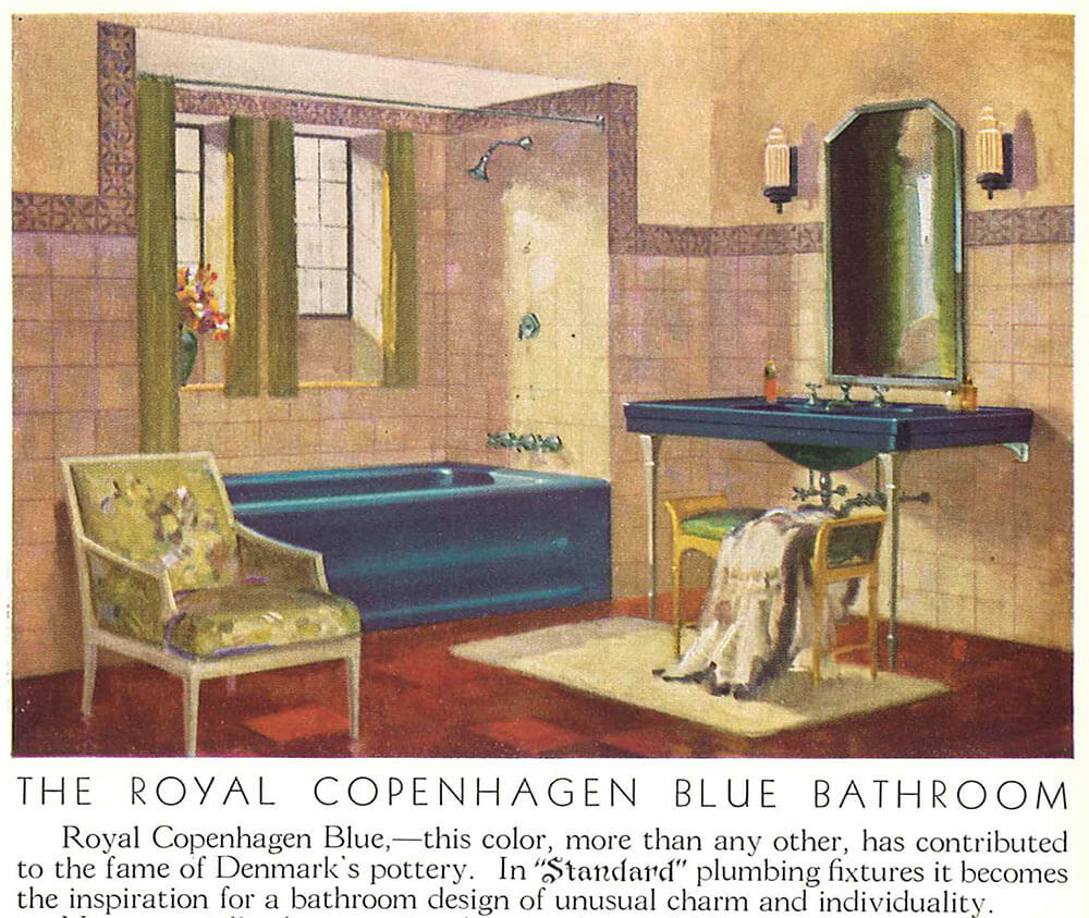 vintage blue bathroom  Vintage colors from seven manufacturers 1927 to