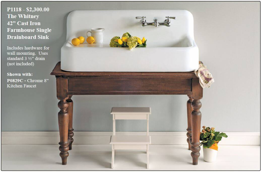 Wall Mount Kitchen Sink With Drainboard