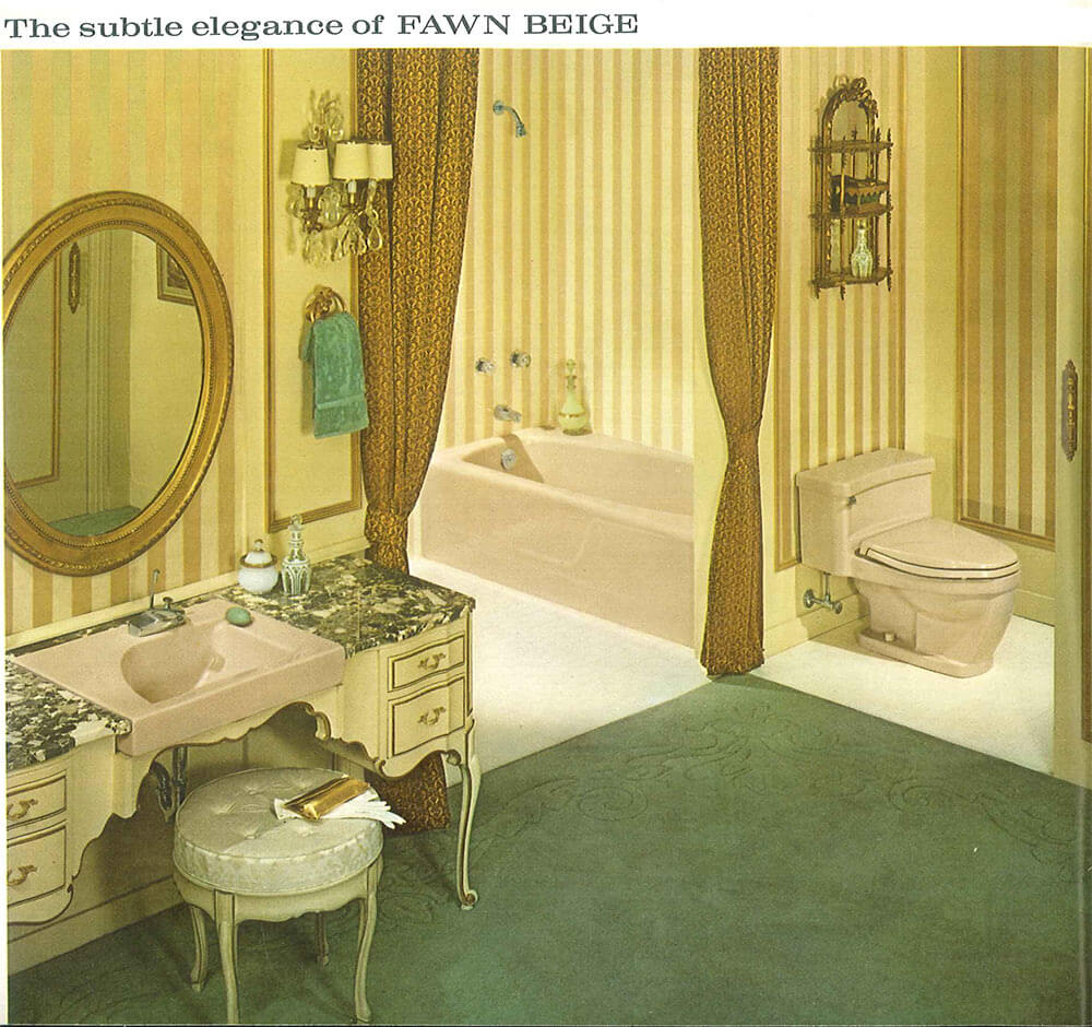 decorating a beige bathroom: color history and ideas from six