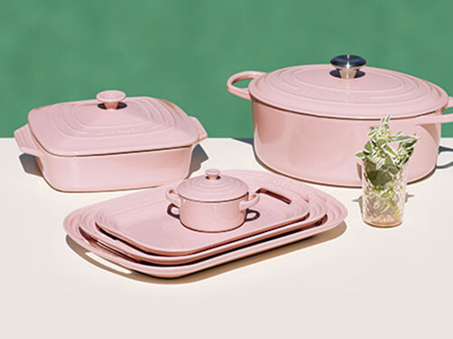 pink kitchenware