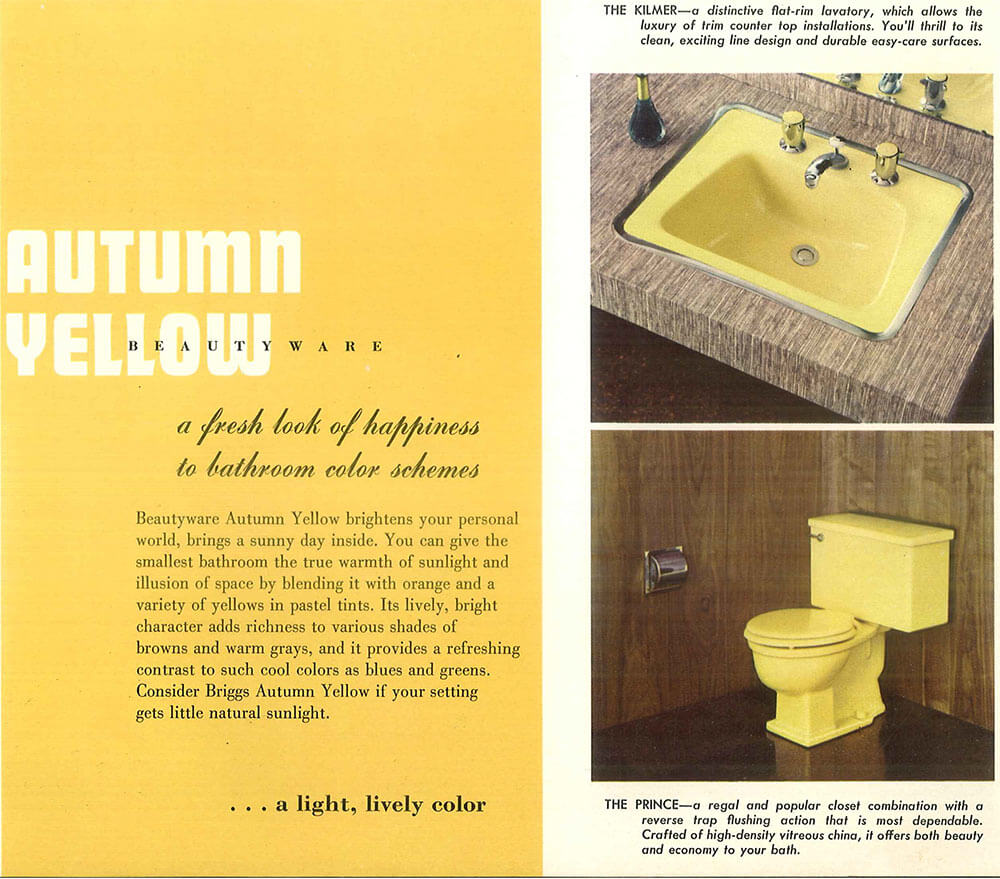 vintage yellow bathroom vintage Yellow bathroom