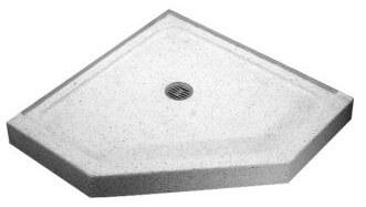 folding accordion tub and shower doors terrazzo shower base - Kohler Shower Base