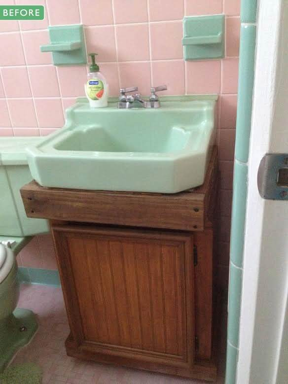 Spectacular old bathroom vanity