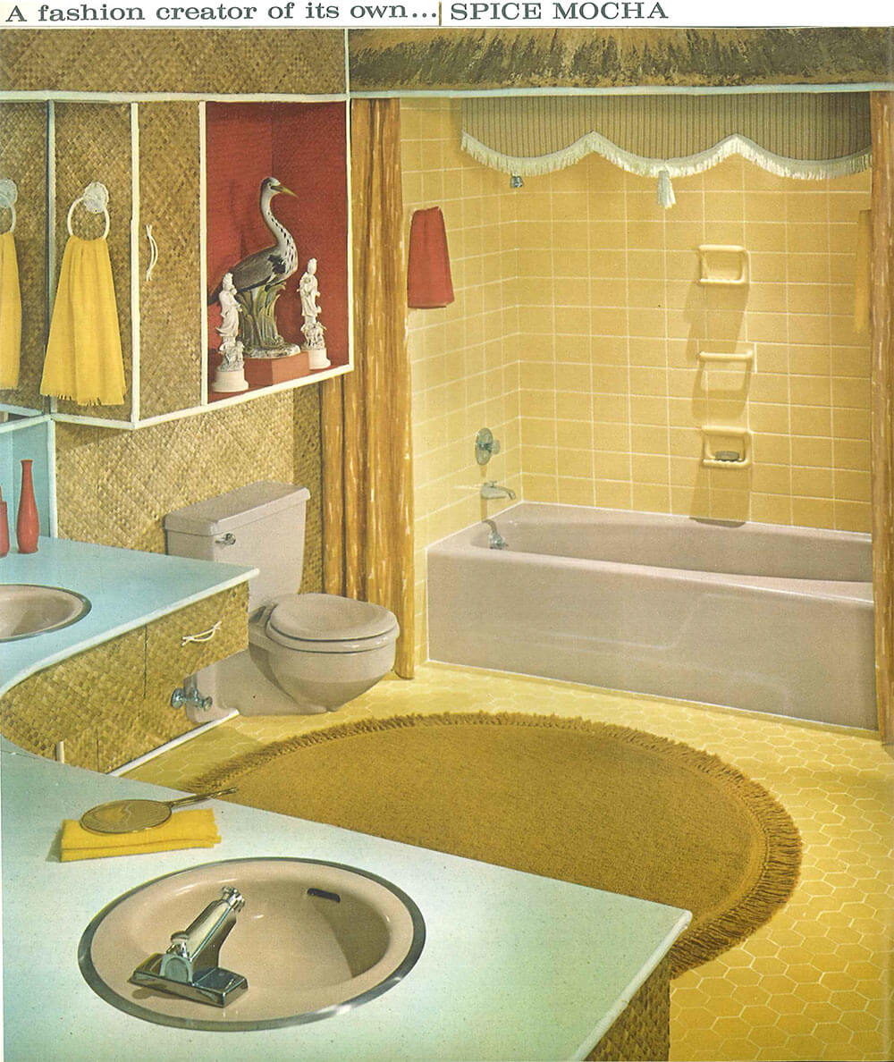 Decorating A Beige Bathroom: Color History And Ideas From Six Manufacturers From 1927 To 1962