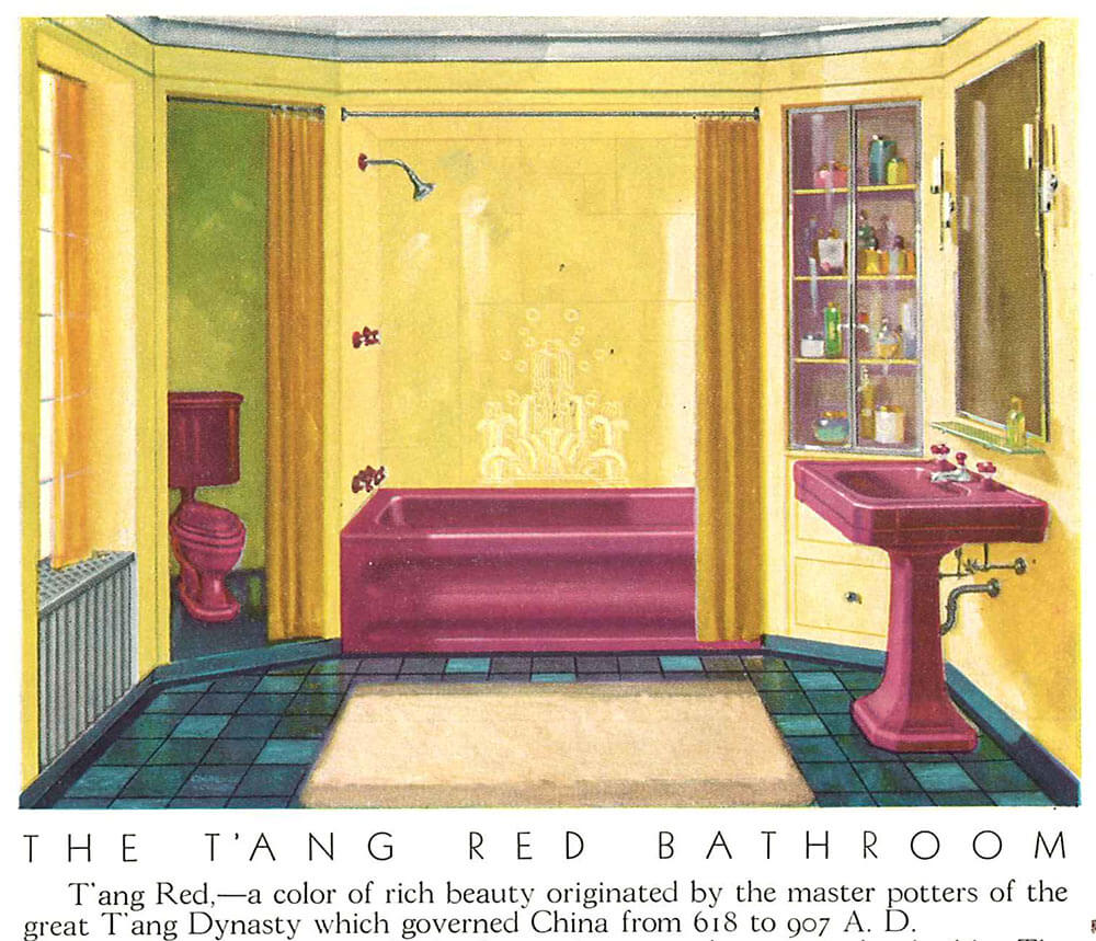 vintage bathroom colors reds t ang and more 14955
