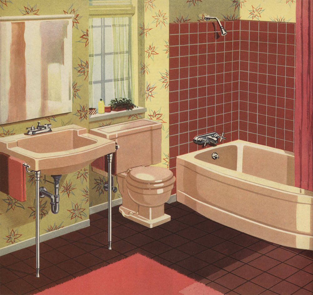 Decorating a beige bathroom color history and ideas from for Beige bathroom set