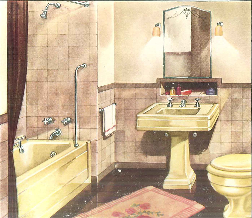 Toilets And Bathrooms: Decorating A Yellow Bathroom: Color History And Ideas From