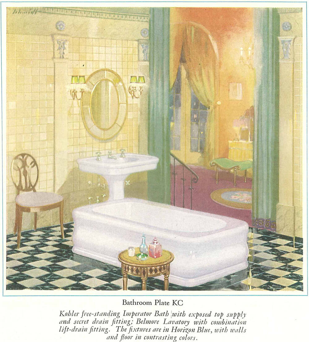 Vintage Blue Bathroom ...