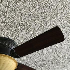 textured flower print ceiling
