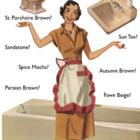 beige bathroom vintage