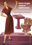 Romantic reds: T'ang Red, Rouge, Persian Red, and more — in bathroom fixtures!