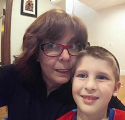 Margie with grandson Aharon.
