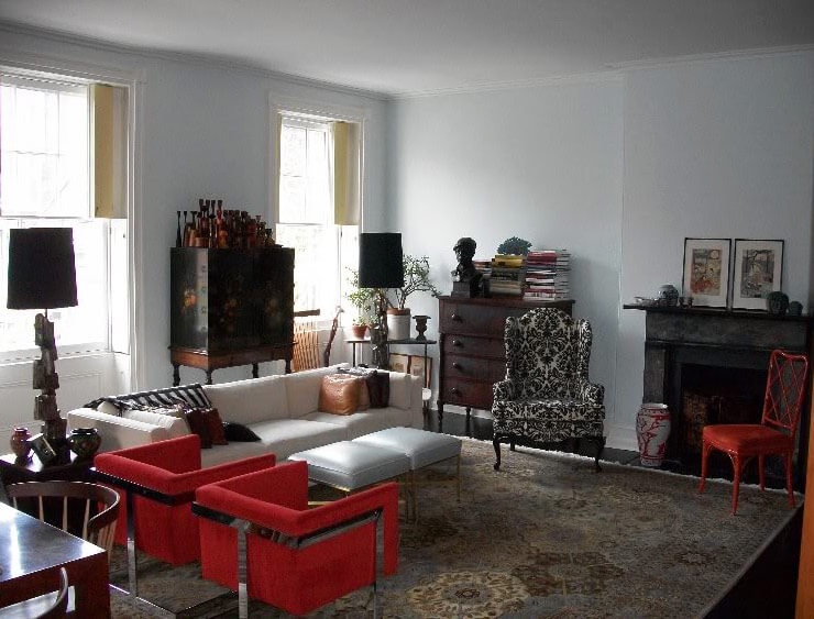 Oriental rugs in midcentury living