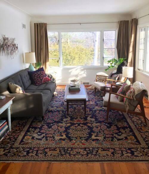 Nice Living Rooms: Oriental Rugs In Midcentury Living Rooms: Me Likey