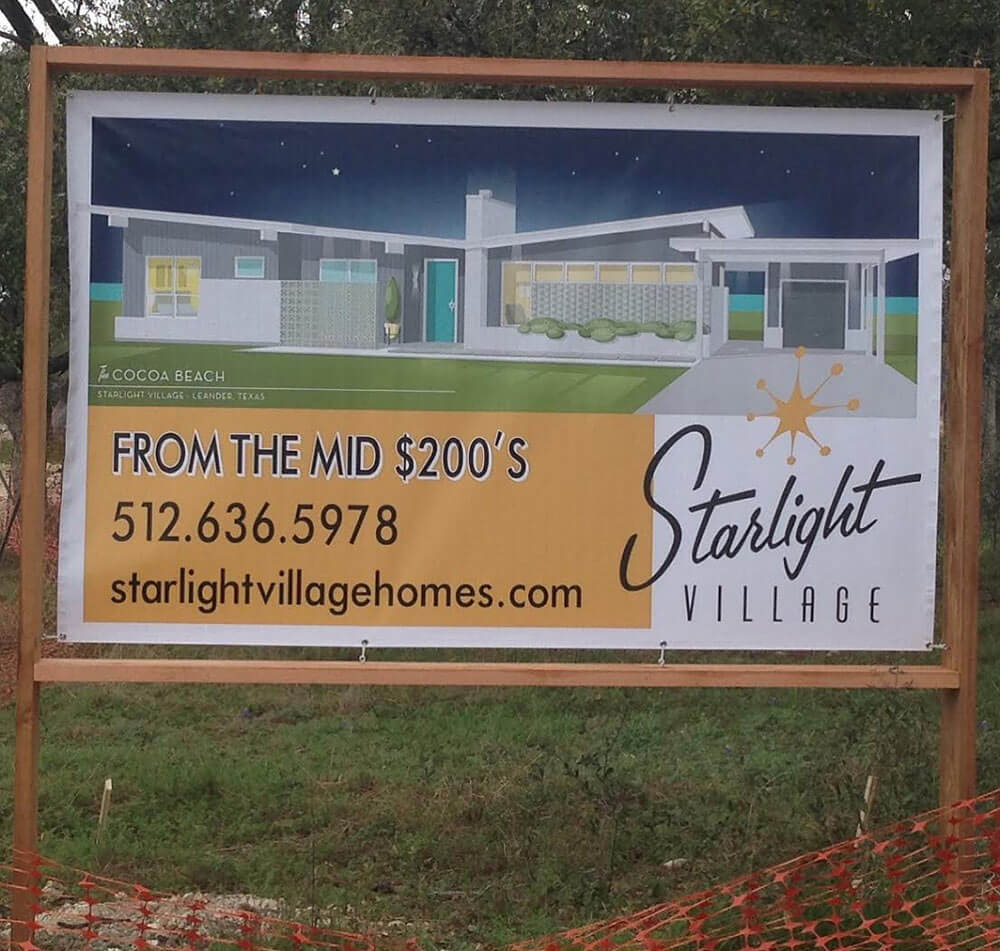 starlight village - a brand new, midcentury modern styled