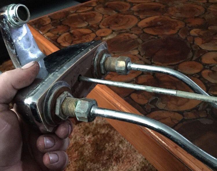 vintage single lever bathroom faucet